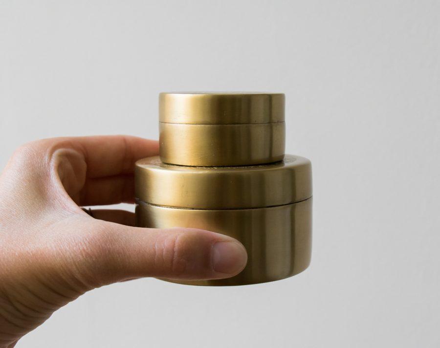 Boîte dorée ronde - Nkuku -Maison Mathûvû