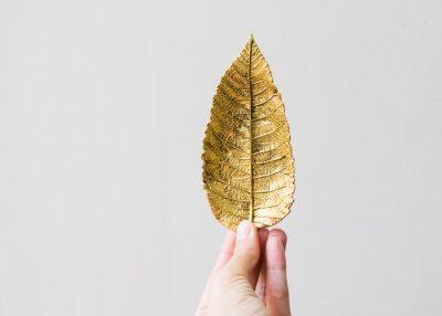 Vide-poches feuille dorée Broste Maison Mathûvû