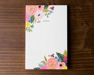 Bloc-notes blossom Rifle paper co - Maison Mathuvu