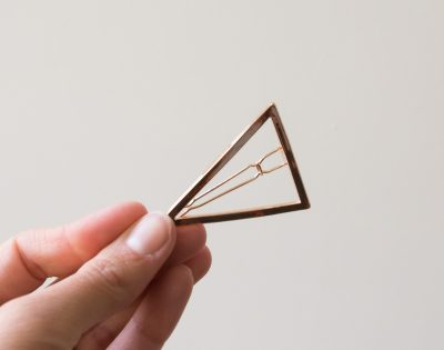 Barrette triangulaire Bachca - Maison Mathuvu