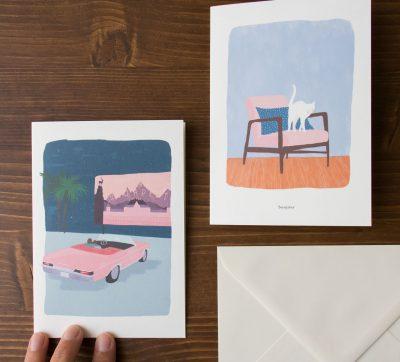Carte wes et félix Atelier Bobbie - Maison Mathuvu