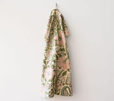 Torchon vert et rose Bungalow - Maison Mathûvû