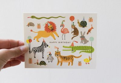 Carte animaux rifle paper co - Maison Mathuvu