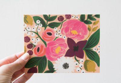 Carte fleurs multicolores Rifle paper co - Maison Mathuvu