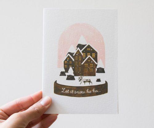 Carte boule à neige et joyeux noël All the ways to say - Maison Mathuvu