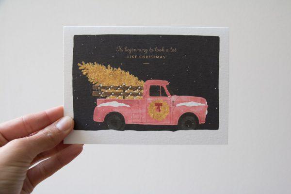 Carte camion de noêl All the ways to say - Maison Mathuvu