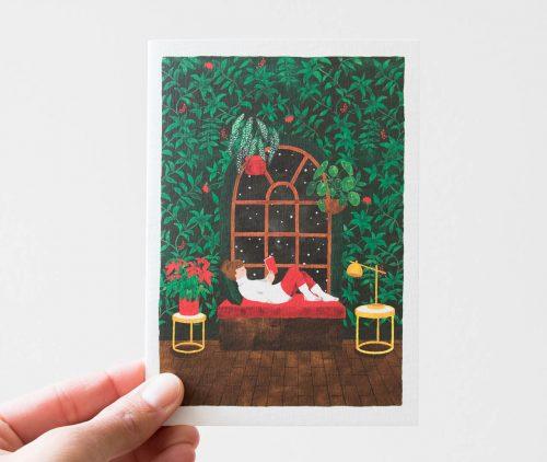 Carte sapin et hiver All the ways to say - Maison Mathuvu