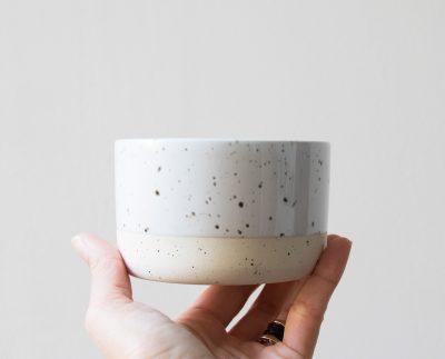 Coupelle bi-colore blanc Bloomingville - Maison Mathûvû