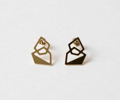boucles d'oreilles puces hexagone Nadja Carlotti - Maison Mathuvu