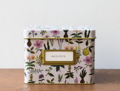 Boîte à recettes jardin rose rifle paper co - maison mathuvu