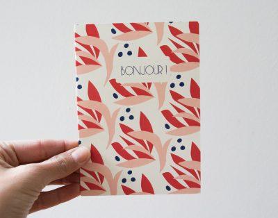 Carte - Bonjour Pascale editions - Maison Mathuvu