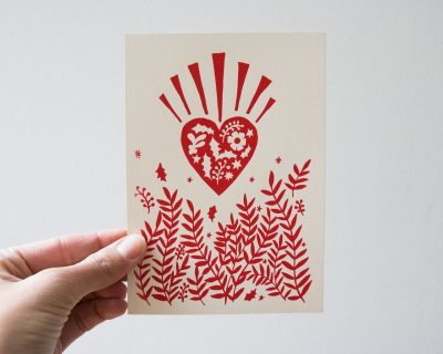 Carte Cœur rouge Rugiada Petrelli - Maison Mathuvu