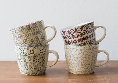 Set de 4 tasses baroques Bloomingville Maison Mathûvû