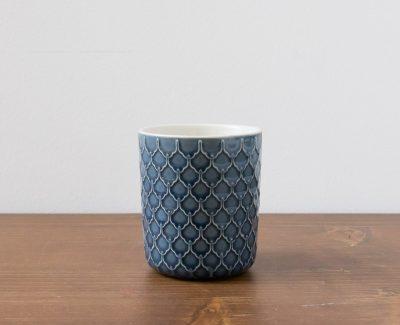 mug bleu écaille Bloomingville - Maison Mathuvu