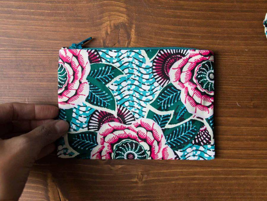 pochette fleur verte Maison Mathuvu