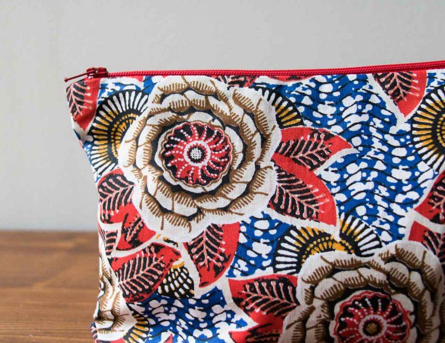 pochette fleur rouge Maison Mathûvû
