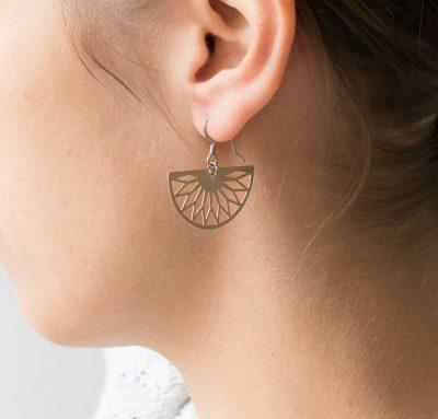 Boucles d'oreilles rosace Maison Mathuvu