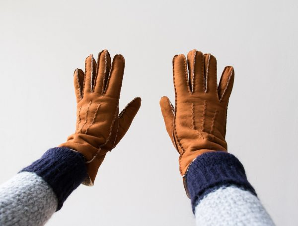 gants en cuir curly glove story - Maison Mathuvu