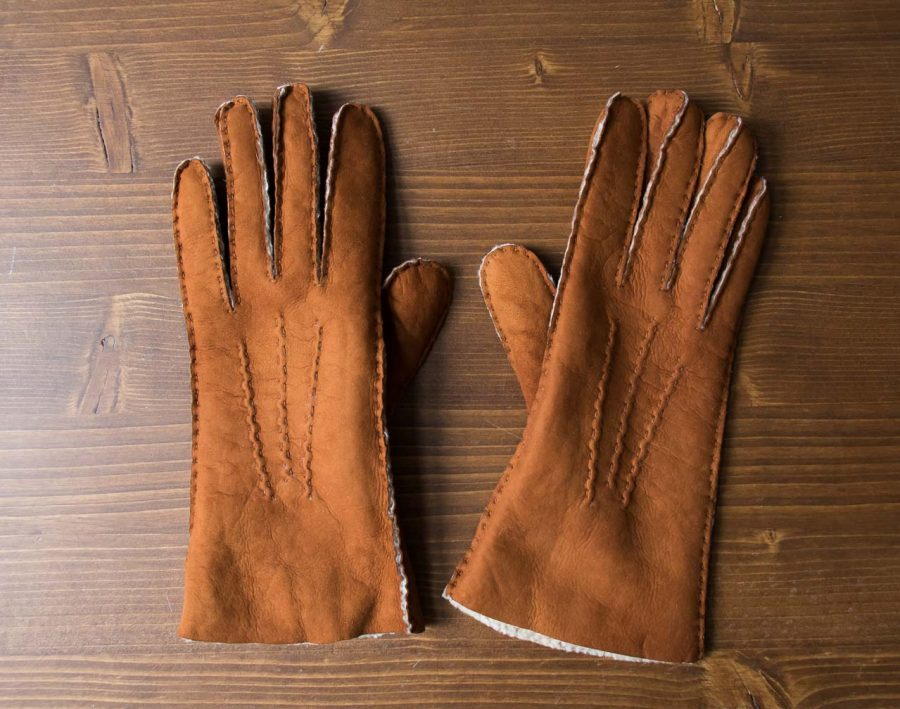 gants en cuir curly glove story - Maison Mathuvu