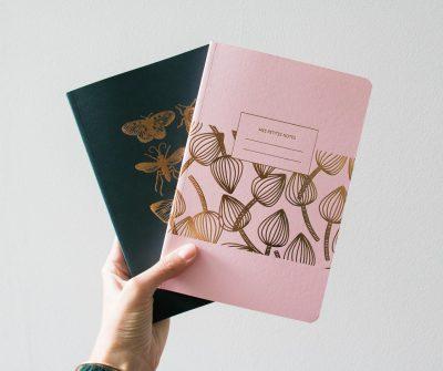 Grand carnet - Papillon et Physalis les éditions du paon - Maison Mathuvu