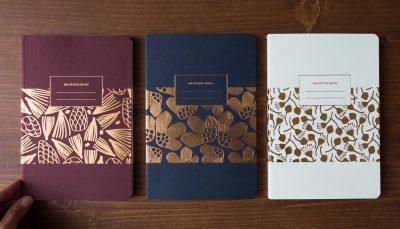 Grand carnet Pavot - Pin - Pistil les éditions du paon - Maison Mathuvu