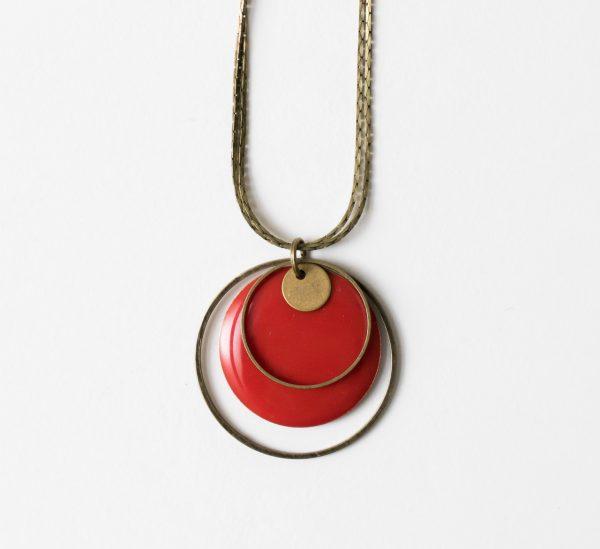 Collier - Cercle et sequin Jisalée - Maison Mathuvu