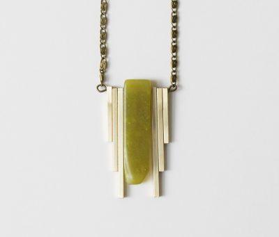 Sautoir Jade vert Maison Mathuvu