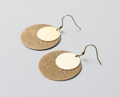 Boucles d'oreilles - cercle plein de la collection Maison Mathûvû