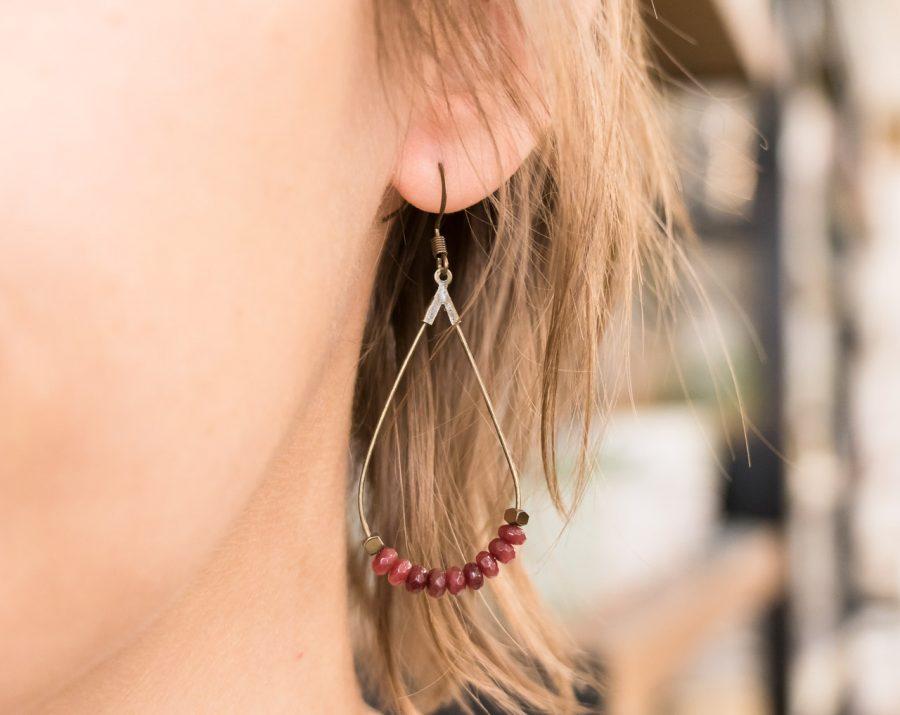 Boucles d'oreilles Goutte Maison Mathuvu