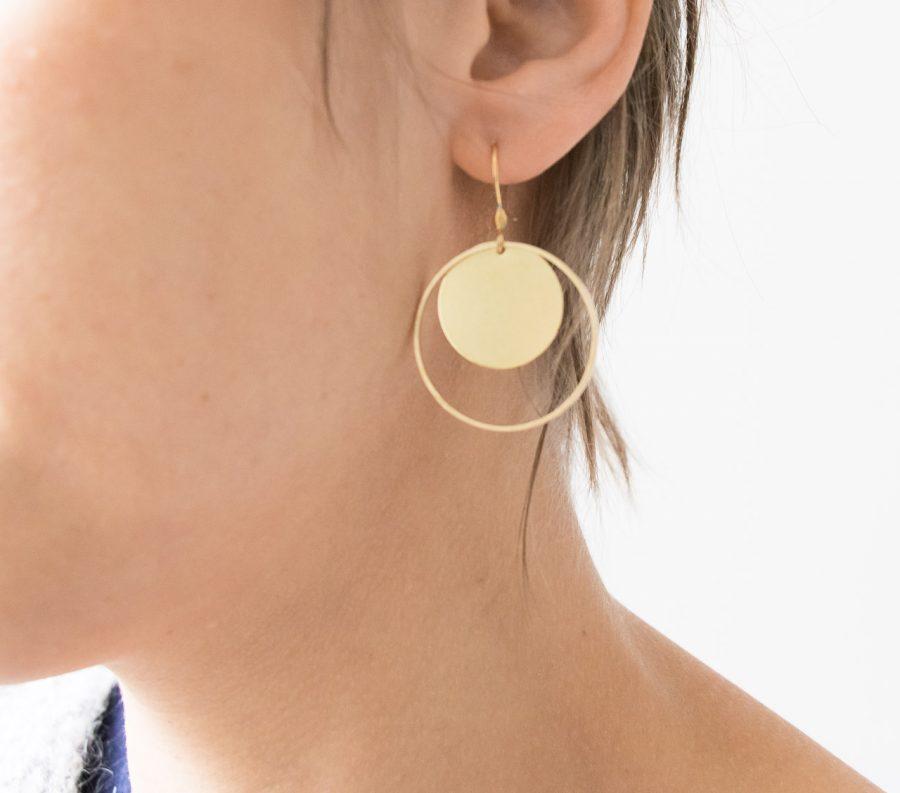 Boucles d'oreilles - Cercle doré Maison Mathûvû