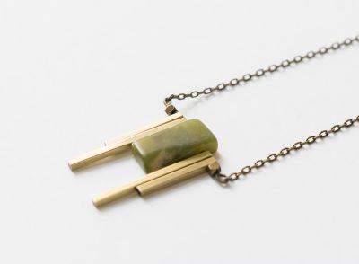 Collier Jade vert Maison Mathuvu