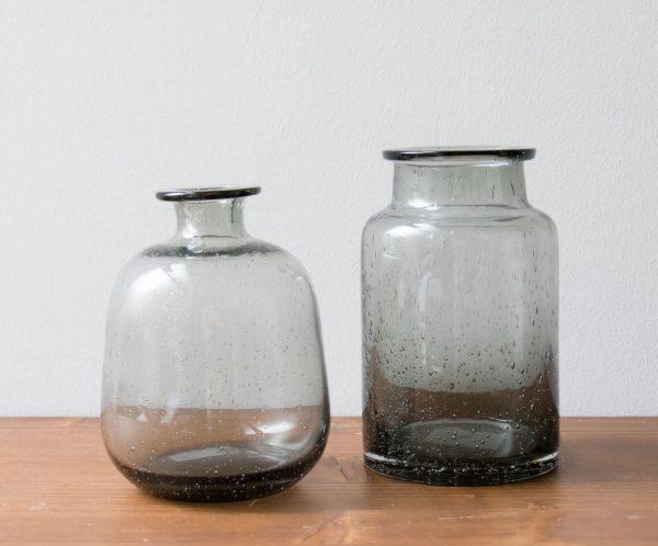 Vase en verre bullé Toska Nkuku - Maison Mathuvu