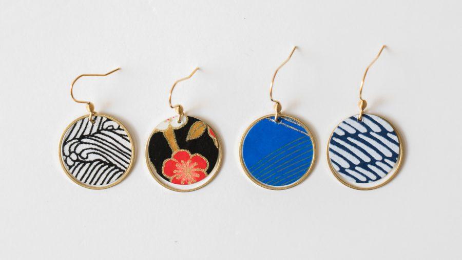 Boucles d'oreilles Lili Aude cercle doré de la collection Maison Mathûvû