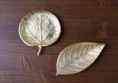 Vide-poche Feuille dorée Bloomingville - Maison Mathuvu