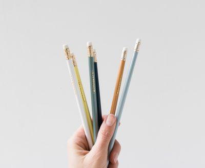 Set de 6 crayons à papier colorés Monograph - Maison Mathûvû