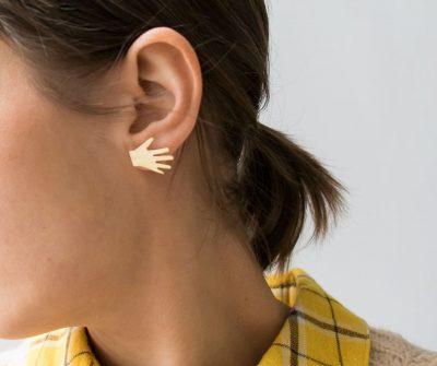 Boucles d'oreilles - Main Les galantes - Maison Mathuvu