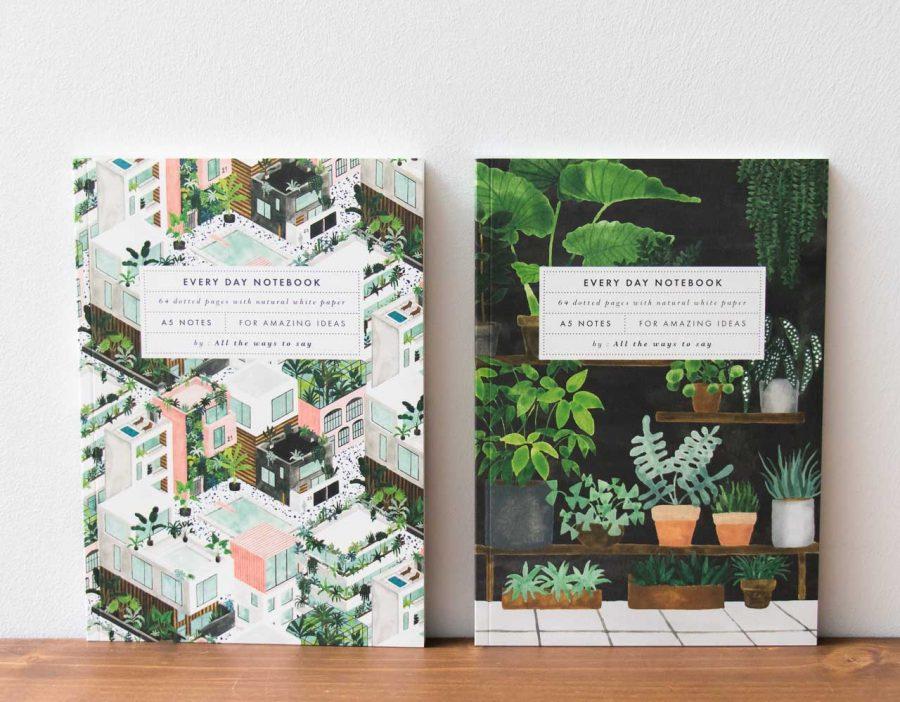 Carnet A5 - Plant shop et City All the ways to say - Maison Mathuvu
