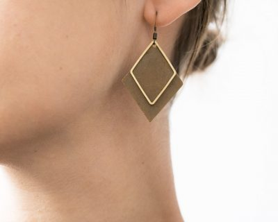 Boucles d'oreilles - Double losange Maison mathuvu