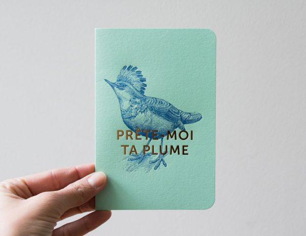 Carte - Oiseau Les éditions du paon - Maison Mathuvu