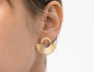 Boucles d'oreilles double - Impetus Eskhina - Maison Mathuvu