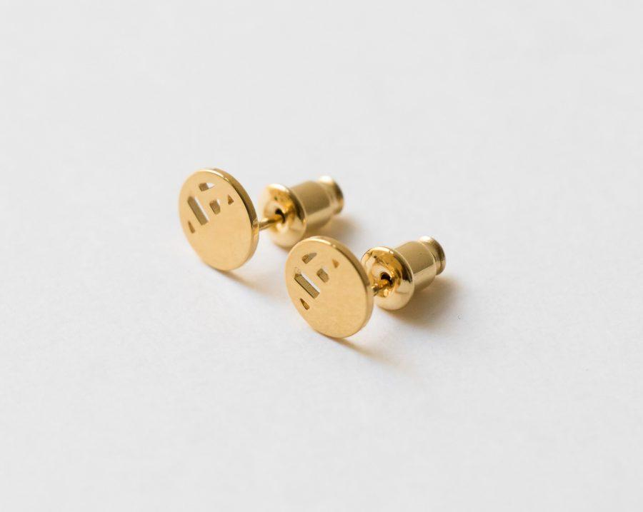 Boucles d'oreilles petites puces - Quadrature Eskhina - Maison Mathuvu