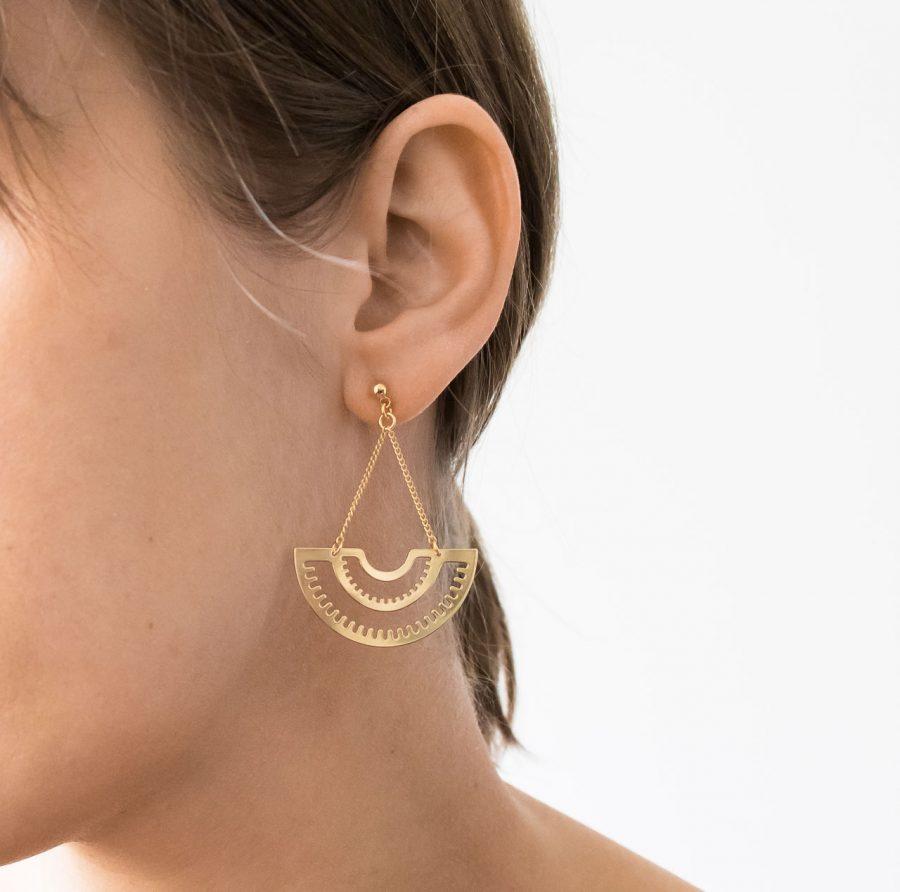 Boucles d'oreilles pendantes - Impetus Eskhina - Maison Mathuvu