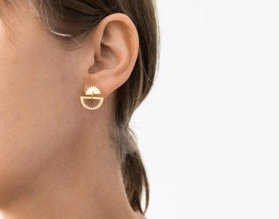 Boucles d'oreilles inversées - Impetus Eskhina - Maison Mathuvu