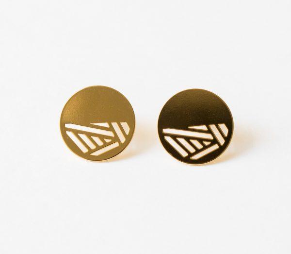 Boucles d'oreilles grandes puces - Quadrature Eskhina - Maison Mathuvu