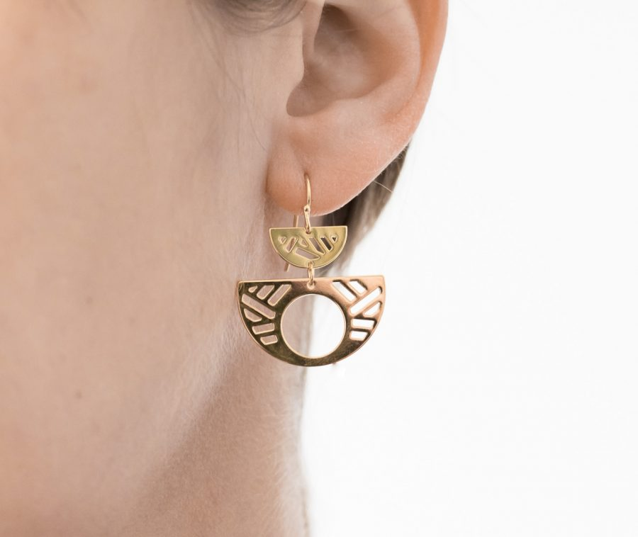 Boucles d'oreilles double - Quadrature Eskhina - Maison Mathuvu