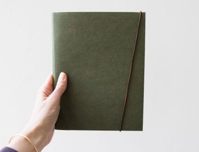 Cahier A5 vert Loft 18 - Maison mathuvu