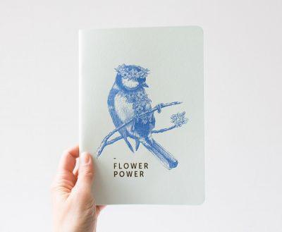 Carnet - Flower Power Les éditions du paon - Maison mathuvu
