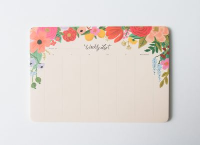 Semainier - Garden party Rifle paper co - Maison Mathuvu