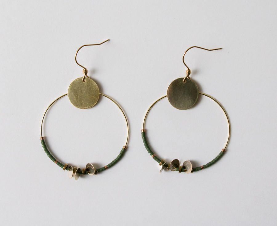 Boucles d'oreilles - Créoles Miyuki Maison Mathuvu