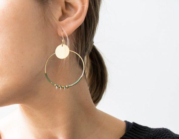 Boucles d'oreilles - Créoles Hiko Maison Mathuvu